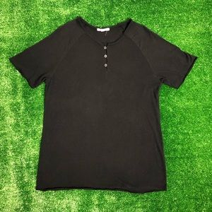 Threads 4 Thought black button down T Shirt